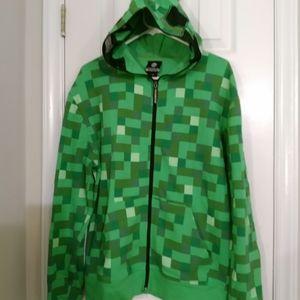 Minecraft Creeper Zip-Up Jacket